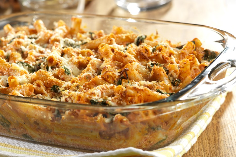 Three-Cheese Baked Penne